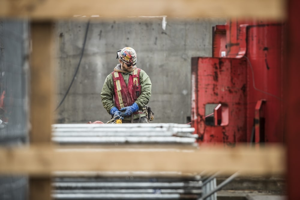 man at construction site