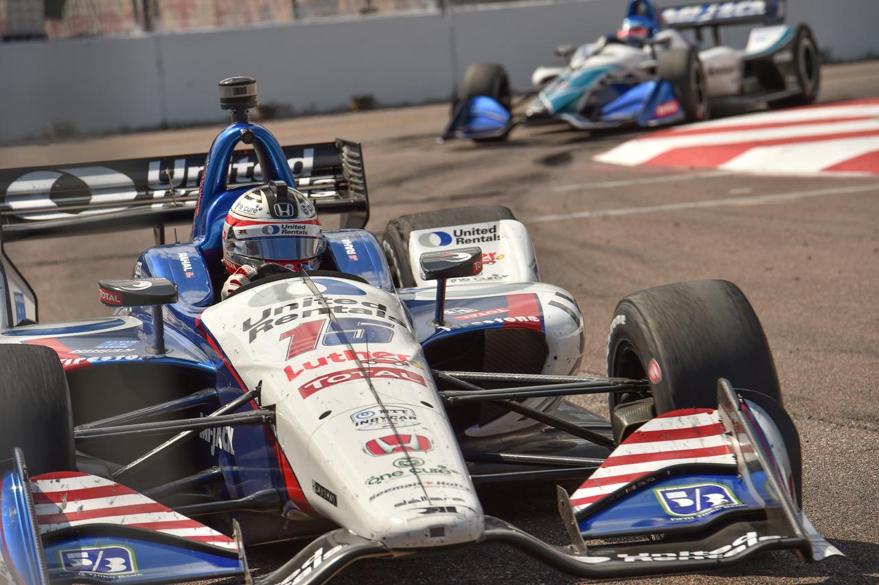 race car making turn