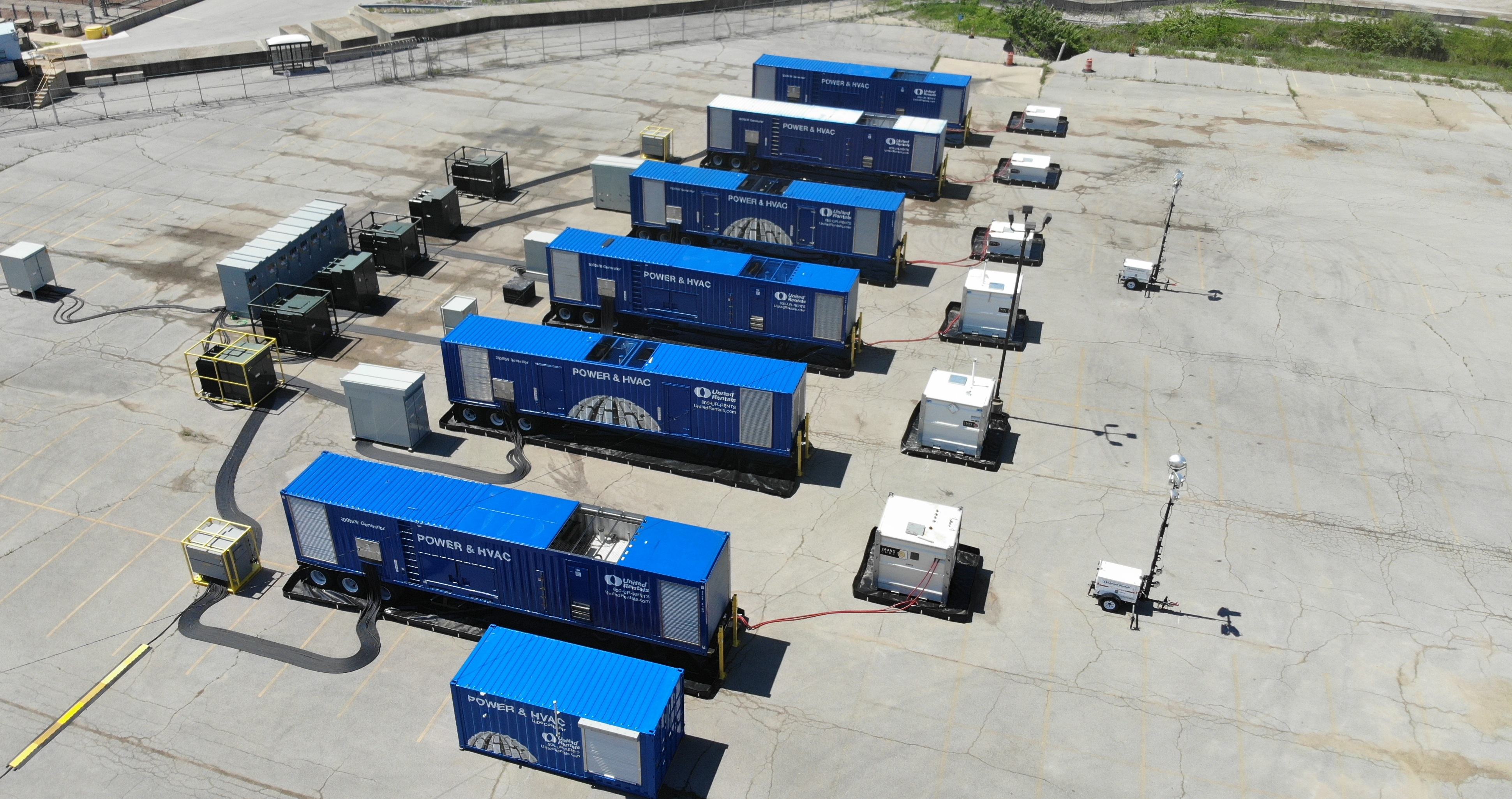 power trailers on worksite