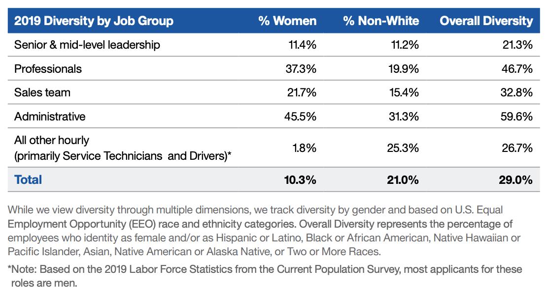 2019 Diversity by Job Group