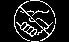 no hand shake icon