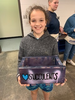 Girl with Succulents Box