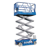 blue scissor lift