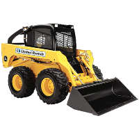 skid steer track loader yellow
