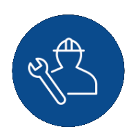 icon of a person in a hardhat with a wrench