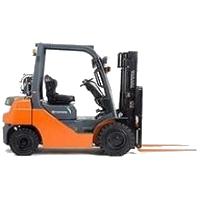 warehouse forklift orange