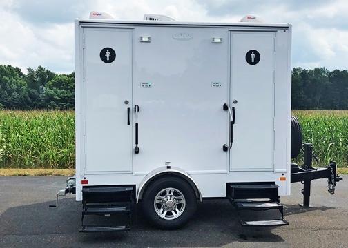 portable restroom trailer