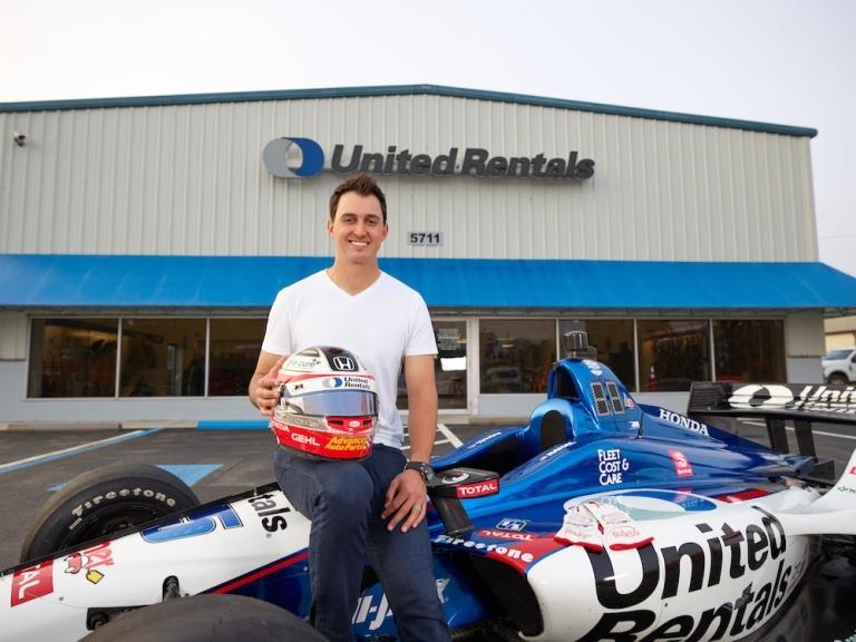 graham rahal race car united rentals branch