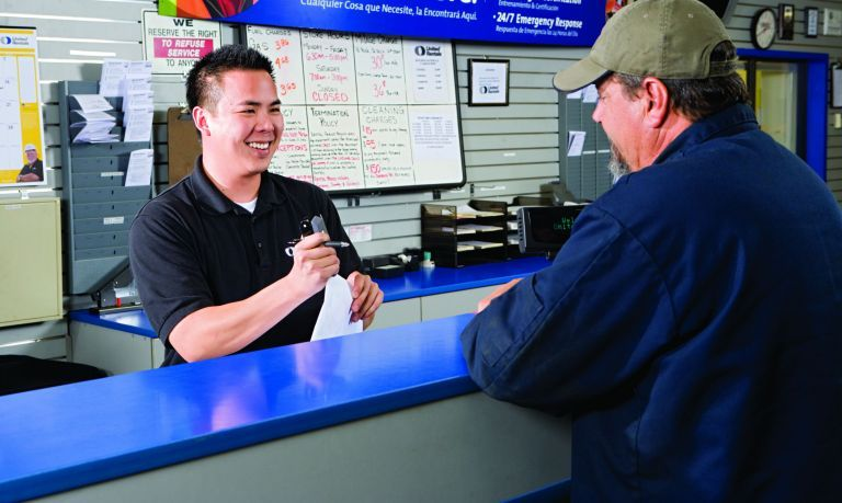 United Rentals Employee With Customer