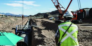 trench engineer at excavation jobsite