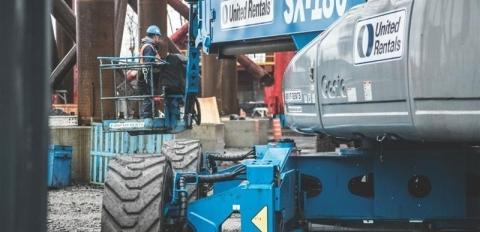 Blue United Rentals Equipment truck