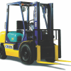 yellow warehouse forklift