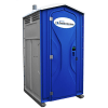 ROS blue Portable Restroom exterior photograph