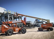 boom lift extended