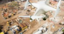 drone over jobsite
