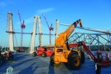 Crane at bridge jobsite