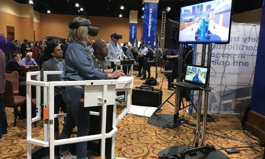 ar simulator at conference