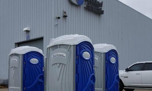 Porta Potties in UR Branch Lot