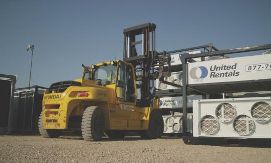 Yellow Forklift on Jobsite