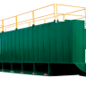 green double wall tank with yellow railing