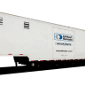 large white trailer that can be hitched to a truck