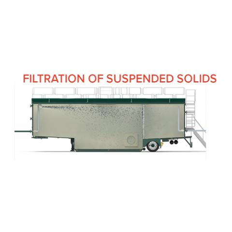 Filtration Open Top Tank 70 m3- Filtration of suspended solids