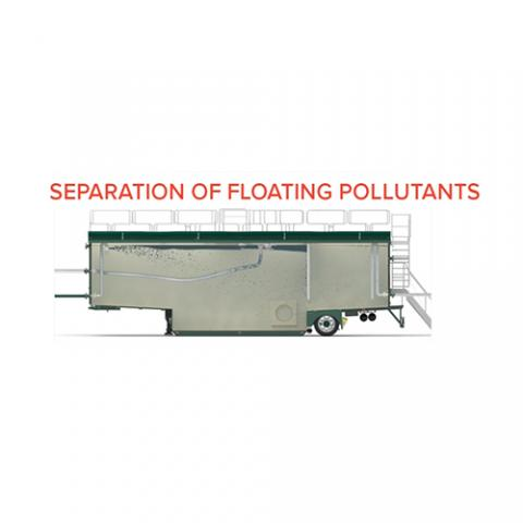 Filtration Open Top Tank 70 m3 - Separation of floating pollutants