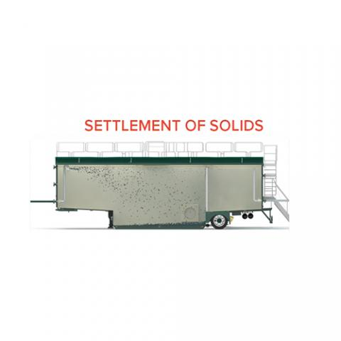 Filtration Open Top Tank 70 m3- Settlement of solids